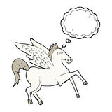 kreskówka Pegasus z myśl bąblem Obraz Stock