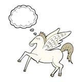 kreskówka Pegasus z myśl bąblem Zdjęcie Stock