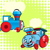 Kreskówka pociągi Zdjęcia Stock