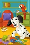 Kreskówka pokój z zwierzętami - ilustracja dla dzieci Obraz Royalty Free