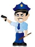 Kreskówka policjant ClipArt royalty ilustracja