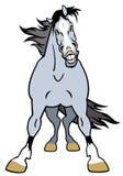 Kreskówka popielaty koń ilustracji
