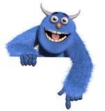 Kreskówka potwór owłosiony zabawkarski Zdjęcia Royalty Free