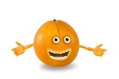 kreskówka protestuje pomarańcze nad biel Obrazy Stock