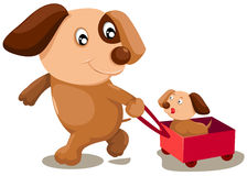 kreskówka psy ilustracja wektor