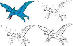 Kreskówka pterodaktyl również zwrócić corel ilustracji wektora Zdjęcia Royalty Free
