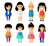 Kreskówka różnych charakterów wektorowi płascy ludzie Obraz Royalty Free