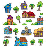 Kreskówka ręka Rysujący dom Obraz Royalty Free
