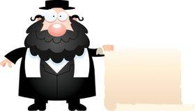 Kreskówka rabinu znak Zdjęcia Royalty Free