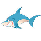 Kreskówka rekin Obrazy Royalty Free