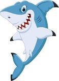 Kreskówka rekinu śmieszny pozować ilustracja wektor