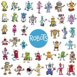 Kreskówka robota charakterów duży set royalty ilustracja