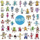 Kreskówka robota charakterów duży set Obraz Royalty Free