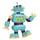 Kreskówka robota 3D ilustracja ilustracja wektor