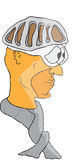 Kreskówka rowerzysty głowa Obraz Royalty Free
