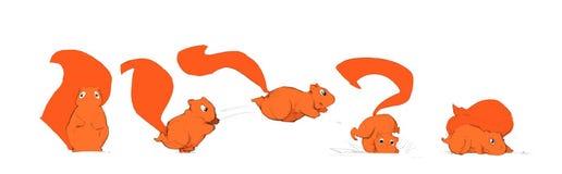 kreskówka rysująca ręki wiewiórka Obrazy Stock