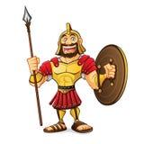 Kreskówka rzymianina wojsko royalty ilustracja