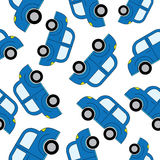 Kreskówka samochodów bezszwowy wzór Szablon dla projekta Zdjęcia Stock