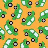 Kreskówka samochodów bezszwowy wzór Szablon dla projekta Obraz Stock