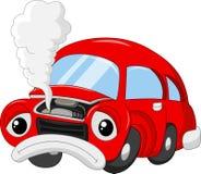 Kreskówka samochodowa szkoda tak, że dymiący ilustracja wektor