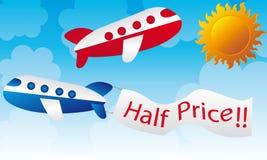 kreskówka samoloty Obrazy Royalty Free