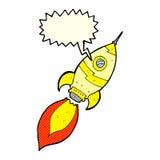kreskówka statek kosmiczny z mowa bąblem Obraz Royalty Free