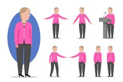 Kreskówka stylowy portret społeczeństwo i Niemiecki kanclerz Angela M Zdjęcie Royalty Free