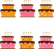 Kreskówka torta ręki rysunek odizolowywający na bielu Zdjęcie Royalty Free