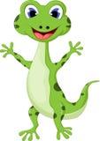Kreskówka uśmiechnięty gekon Zdjęcia Royalty Free