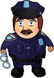 Kreskówka uśmiechnięty policjant ilustracji