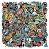 Kreskówka wektor doodles Automobilową ilustrację Zdjęcie Stock