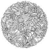 Kreskówka wektor doodles Miodową ilustrację Fotografia Stock