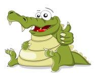 Kreskówka wektorowy krokodyl z palec kombinacją Obrazy Royalty Free