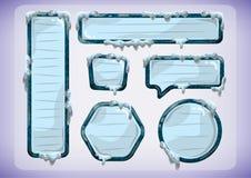 Kreskówka wektoru lodu etykietki dla gry i animaci ilustracja wektor