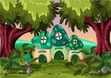 Kreskówka wektoru pieczarki dom z oddzielonymi warstwami Fotografia Royalty Free