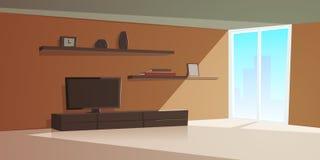 Kreskówka Wewnętrzny Nowożytny Żywy pokój Zdjęcia Royalty Free