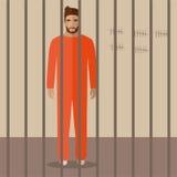 Kreskówka więzień ilustracja wektor