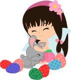 Kreskówka Wielkanocny królik i gril Zdjęcie Royalty Free