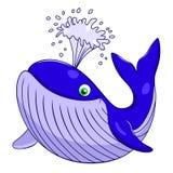 Kreskówka wieloryb ilustracja wektor