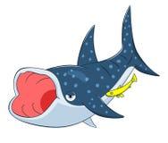 Kreskówka wielorybi rekin ilustracji