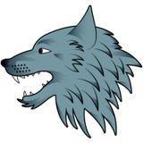 Kreskówka wilka głowa Zdjęcia Stock