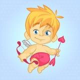 Kreskówka wizerunek śliczna mała amorka St walentynka Zdjęcia Royalty Free