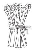 Kreskówka wizerunek asparagus Obrazy Royalty Free