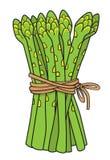 Kreskówka wizerunek asparagus ilustracji
