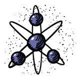 Kreskówka wizerunek atom ikona Atomu symbol Obraz Royalty Free