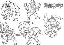Kreskówka wizerunków śmieszni potwory Zdjęcie Stock