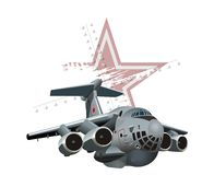 Kreskówka wojskowego samolot ilustracji