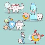 Kreskówka ząb z zdrowia pojęciem royalty ilustracja
