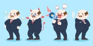 Kreskówka zły szef ilustracji
