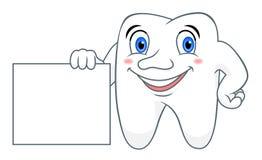 Kreskówka ząb z pustym miejscem ilustracja wektor